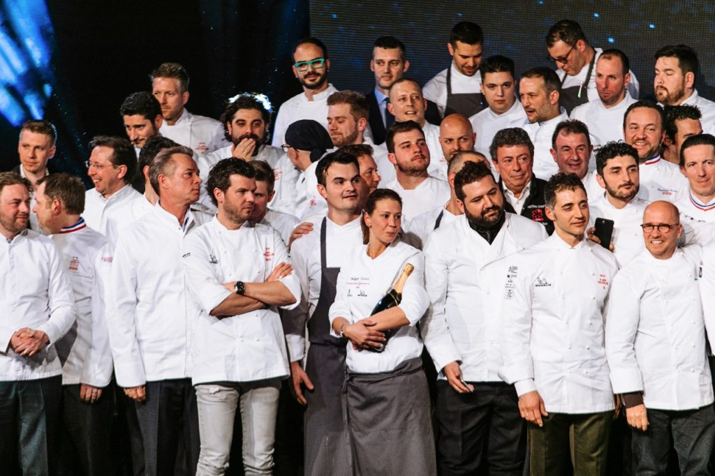 Our Head Chef, Kanász László with the family members of the Michelin Main Cities of Europe