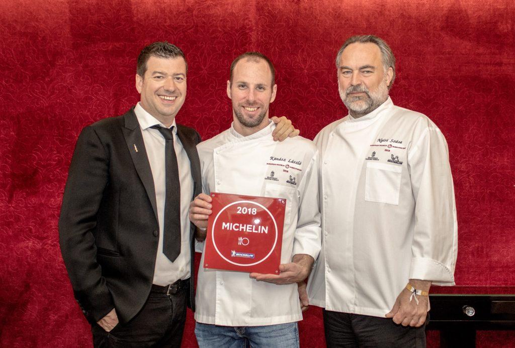 Kanász László Head Chef and the two owners, Molnár Attila and Nyíri Szása